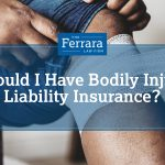 Featured image for a blog about bodily injury liability insurance. Patient getting his leg bandaged by a doctor.