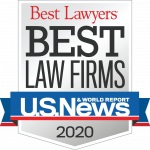 Best Law Firm of 2020 badge - ranked by BestLawyers.com